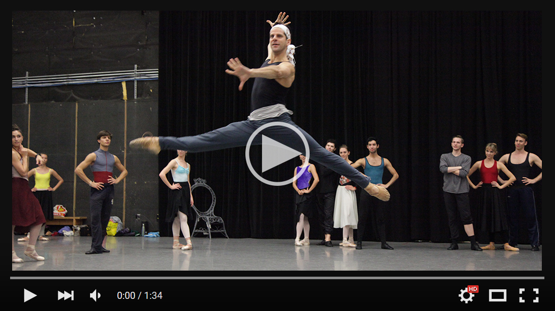 The Sarasota Ballet and Marcelo Gomes in rehearsal for Ashton's The Two Pigeons
