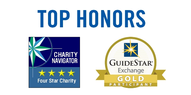 Image of Charity Navigator and GuideStar Top Rating Logos
