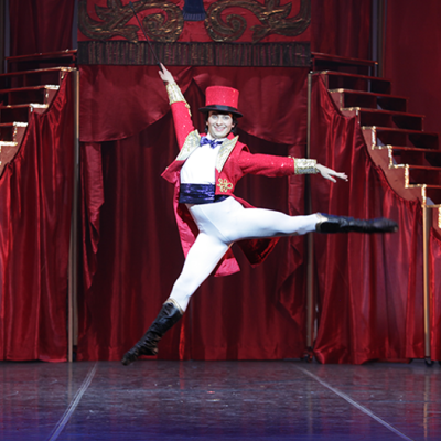Image of Logan Learned in John Ringling Circus Nutcracker/choreography Matthew Hart