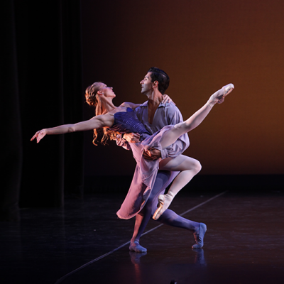 Image of Ricardo Graziano and Danielle Brown in The Blue Hour/choreography Alex Harrison